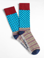Spotty Patchwork Sock