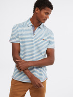 Calder Stripe Organic Cotton Polo