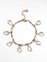 Glass Faceted Bracelet