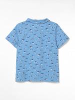 Shark Print Polo Tee