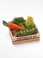 Christmas Felt Veg Box x4