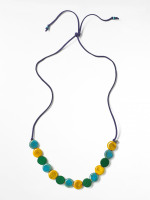 Multi Cord & Ceramic Necklace