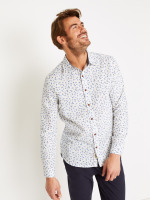 Barrow Linen Mix Print Shirt