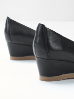 Issy Leather Wedge Shoes