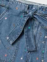 Effie Denim Embroidered Short