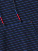 Stripe Towelling Hoodie