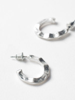 Folded Hoop Earrings