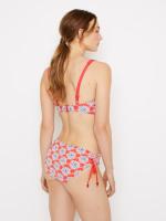Sea Lily Contrast Panel Bikini Top
