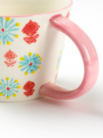 Pink Daisy Dot Mug
