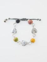 Heart Ceramic Metal Bracelet