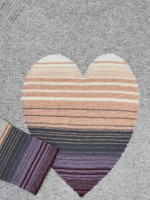 Ombre Heart Jumper