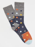 Colourblock Spot Socks