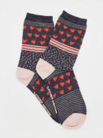 Heart Hotch Potch Sock