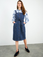 Farrow Denim Pinafore Dress