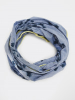 Blurred Floral Chambray Scarf