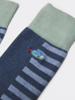 Fish Embroidered Sock