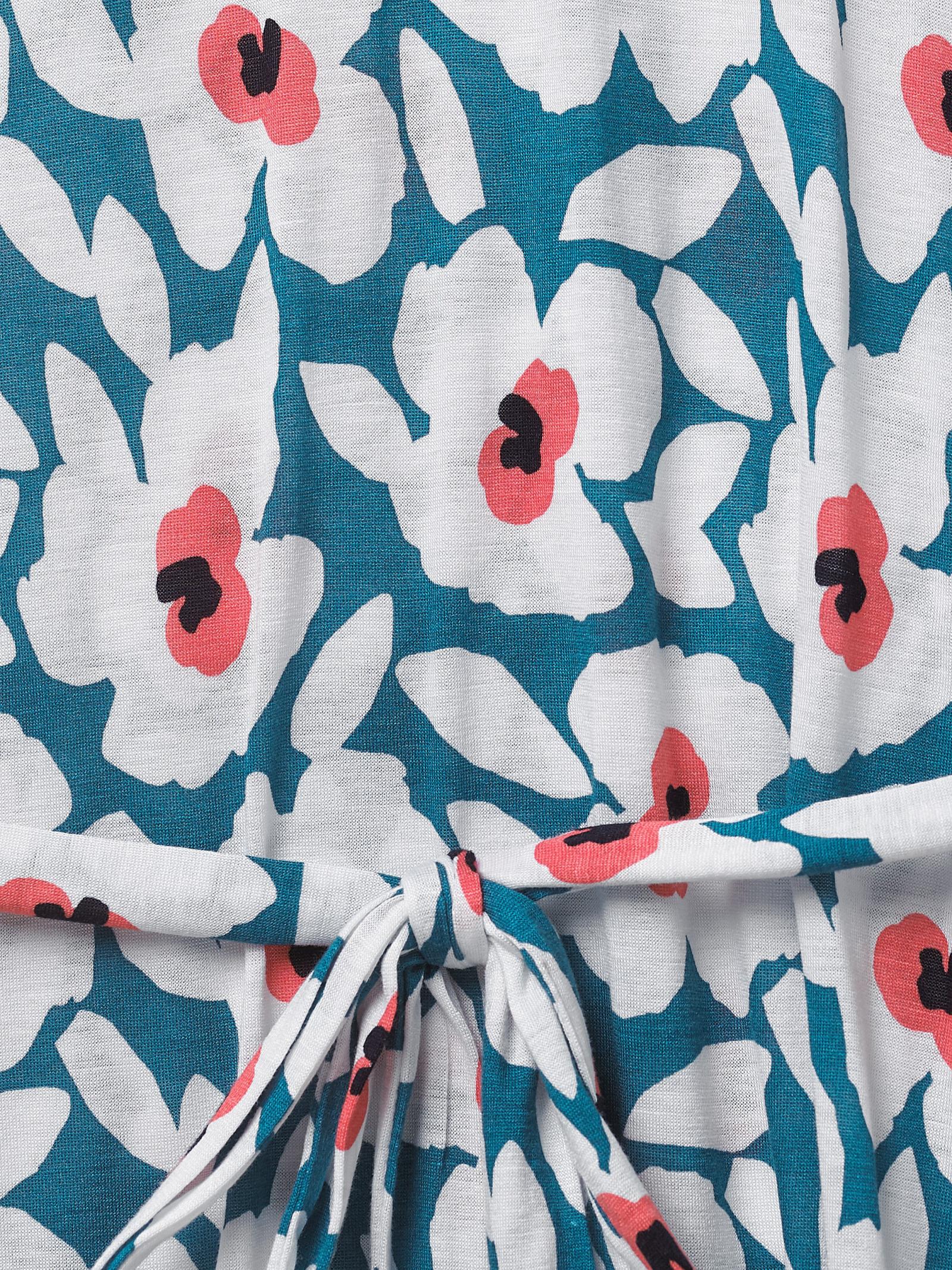 NEW RRP £35 Ex White Stuff Poppy Jersey Kaftan In Deep Sea Teal B192