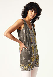 Warm Oceans Jersey Tunic Top
