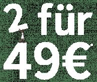 2 für 49 € - Auf die Carly Fairtrade Tops
