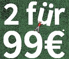 2 für 99 € Auf ausgewählte Herren Hemden & Chinos