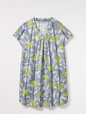 Rice Flower Print Jersey Tunic