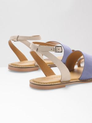 Asymmetric Strap Sandal