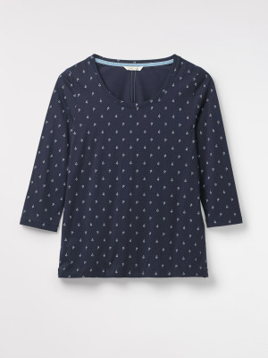 Sally Scoop Neck Jersey Tee