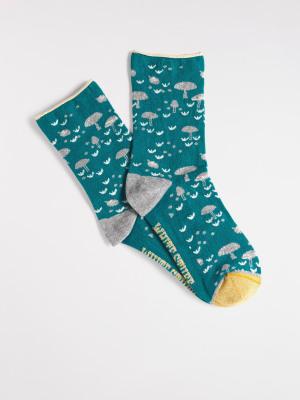 Mushroom Sparkle Sock
