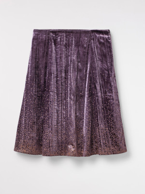 Stardust Crinkle Velvet Skirt