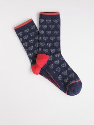 Heart Pointelle Single Sock