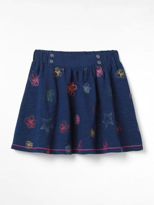 Scribble Jersey Skirt