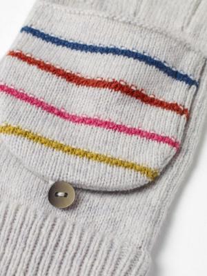 Heart & Stripe Flip Mitt