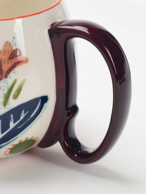 Scattered Leaf Decorative Mug