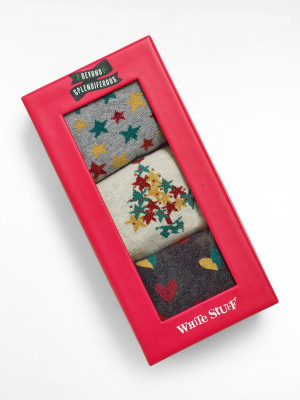 Star And Heart Socks In a Box