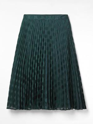 Hina Pleated Midi Skirt