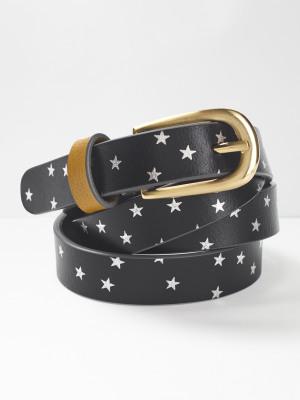 Metallic Star Pop Belt