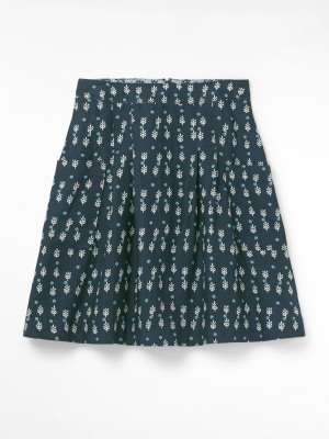 Charlie Print Linen Skirt