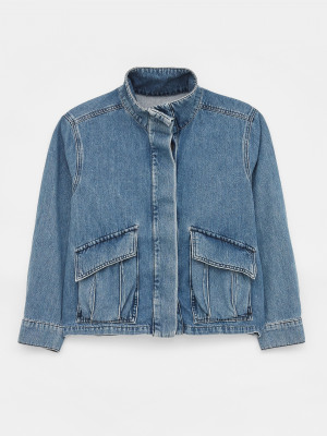 Slouchy Denim Utility Jacket