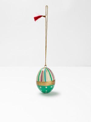 Paper Mache Decorative Egg