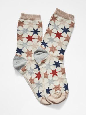 Gridlock Star Sock