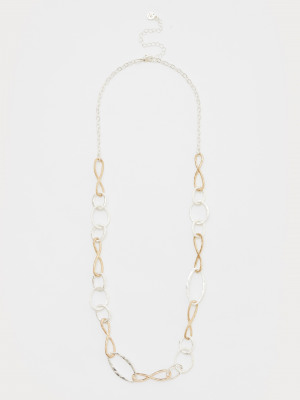 Metal Oval Link Chain Necklace
