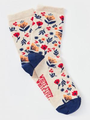 Sara Floral Sock