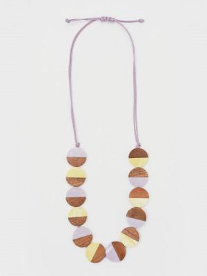 Colourblock Wood Bead Necklace