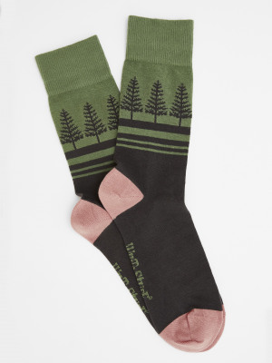 Forest Tree Sock