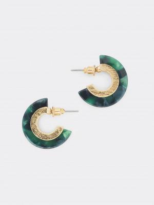 Marble Hoop Earring