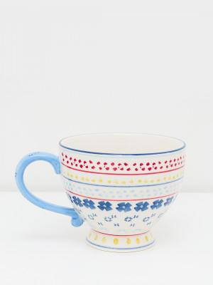 Block Print Decorative Mug