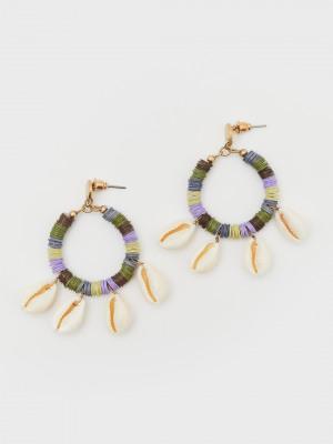 Statement Shell Hoop Earrings