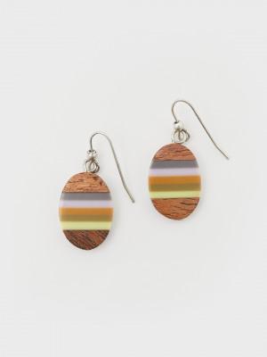 Wood Drop Earrings