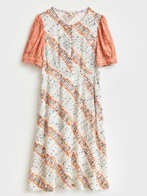 Molly Mixed Print Dress