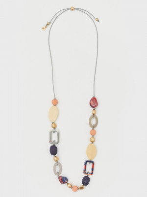 Wood & Resin Mix Necklace